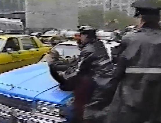 Protesting Salvadoran President Alfredo Christiani, 1989