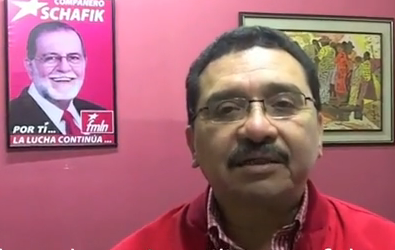 FMLN general secretary Milton Mendez gives a tribute to CISPES on 30 years